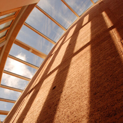 Rammed earth wall WISE building