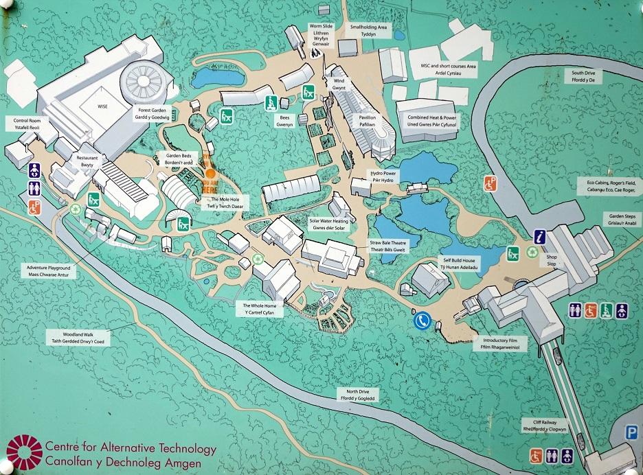Centre for alternative technology map