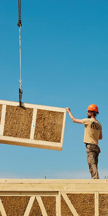 EcoCocon straw panel modern straw bale house
