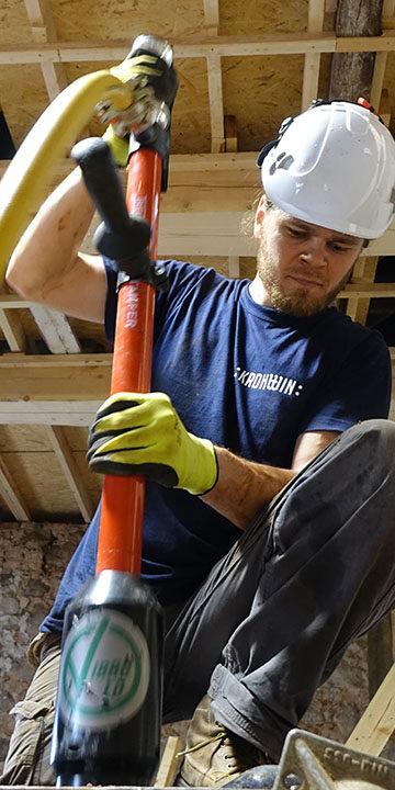Construction work rammed earth pneumatic tamper Eestimaaehitus