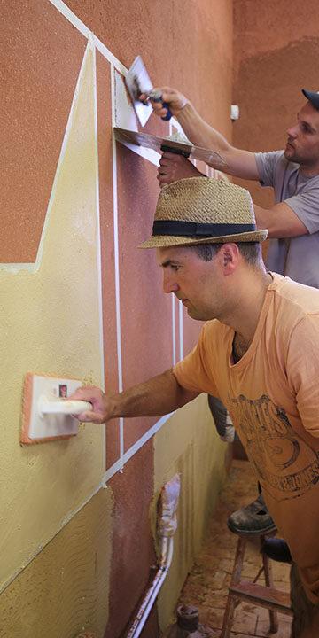 Finishing work clay plaster application Eestimaaehitus